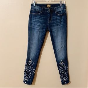 Driftwood • Marilyn Embroidered Skinny Jeans (28)